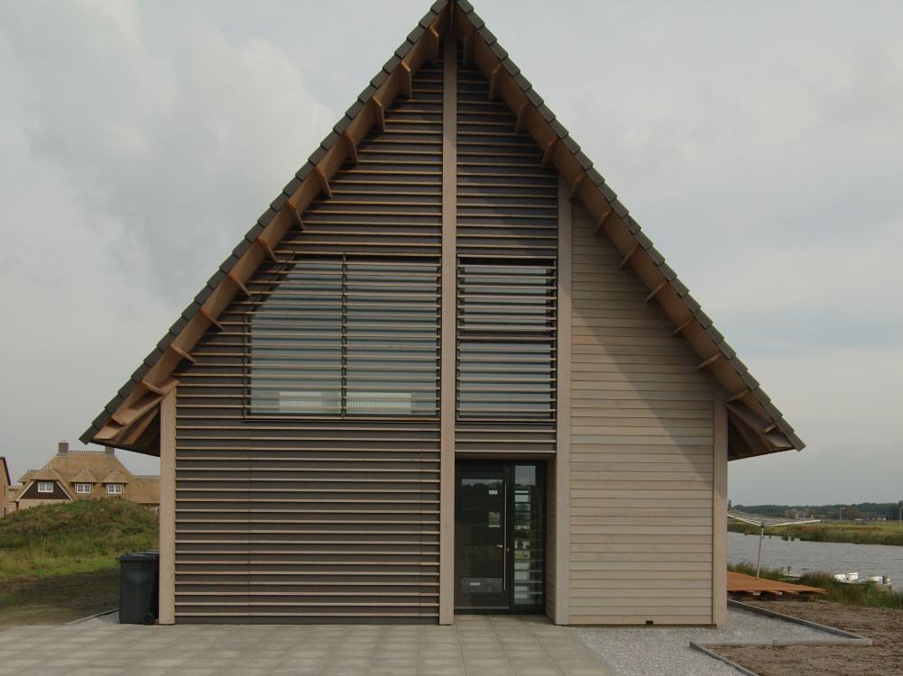 woonhuis; moderne architectuur in hout